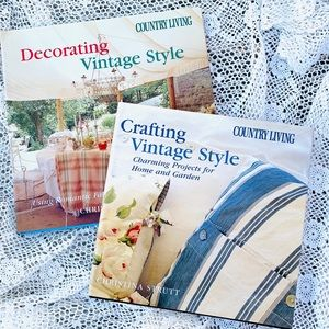 Hardcover Books Set of 2 Crafting Vintage Style